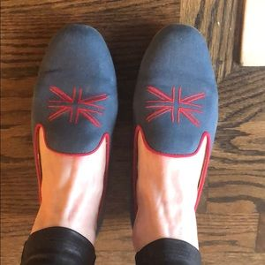 Seychelles British flag navy loafers